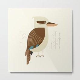 Laughing Kookaburra, Bird of Australia Metal Print