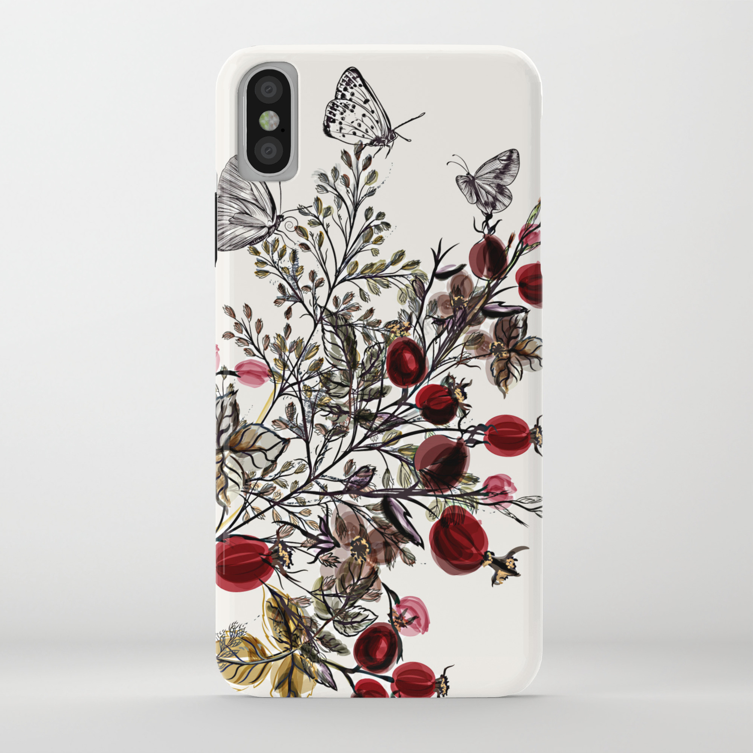 Watercolor Floral Background Iphone Case By Igorg Society6