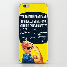 You touch me once and it's really something iPhone Skin