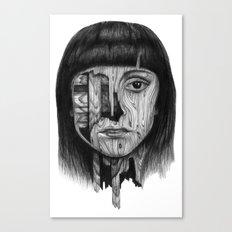 Wood Girl Canvas Print