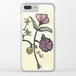 Chinese Flowers Clear iPhone Case
