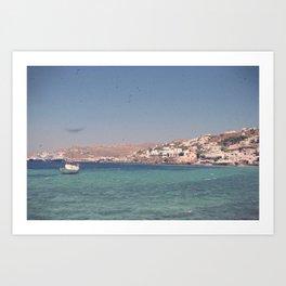 Greek Island Paradise Art Print