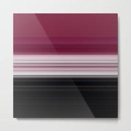 Bold Rose Pink Stripes Metal Print