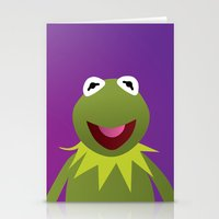 muppets Stationery Cards featuring Kermit - Muppets Collection by Bryan Vogel