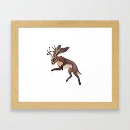 Brown Jackalope Framed Art Print