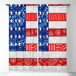 Retro American Flag Blackout Curtain