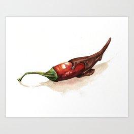 Chocolate Covered Pepper Art Print