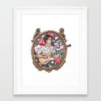 ezra koenig Framed Art Prints featuring Ezra Koenig of Vampire Weekend by Jesse Knight