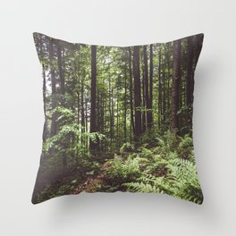 Woodland - Landscape and Nature Photography Throw Pillow