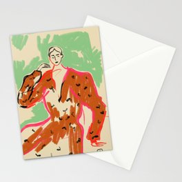 WOMAN IN A TERRACOTTA DRESS Stationery Cards