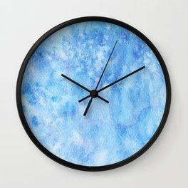 Blue Salt Wall Clock