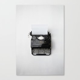 Old fashion typewriter Canvas Print