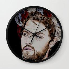 Misha Collins 2., acrylic painting Wall Clock
