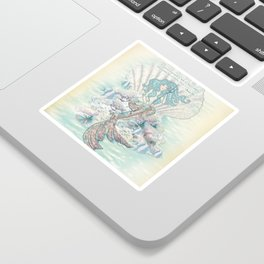 Anais Nin Mermaid [vintage inspired] Art Print Sticker