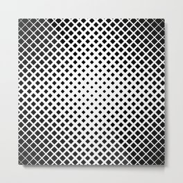 op art - black and white diamond grid Metal Print