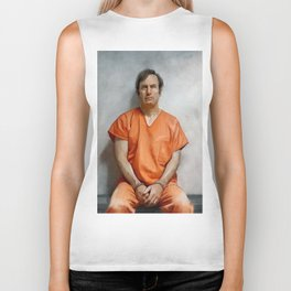 Jimmy McGill aka Saul Goodman In Prison Orange And Chains - Better Call Saul Biker Tank