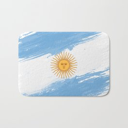 Argentina's Flag Design Bath Mat