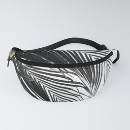 Tropical Black & White Palm Leaves #1 #tropical #wall #decor #art #society6 Fanny Pack