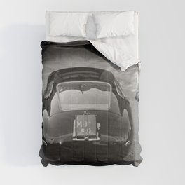 1957 4.5 Coupe, Modena, Italy Italian Sport Car Factory Photography Comforters