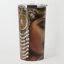 African American Masterpiece 'Cotton Club Flapper Dance Girl' Portrait Painting Travel Mug