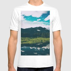 North Cascades Hidden Lake Mens Fitted Tee MEDIUM White