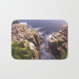 View From The Minack Theatre, Porthcurno, Cornwall, England, United Kingdom Bath Mat