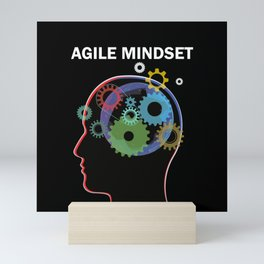 Scrum Master Head Agile Mindset Mini Art Print