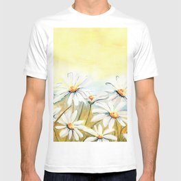 Daisies Watercolor T-shirt