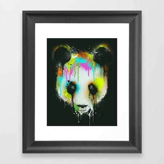 Technicolour Panda Framed Art Print