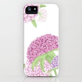 Beautiful hydrangeas iPhone Case