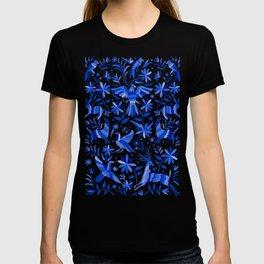 Mexican Otomí Design in Deep Blue T-shirt
