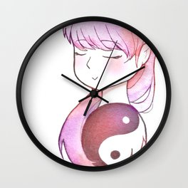 Peace & Balance Wall Clock