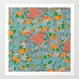 Citrus Octo Art Print