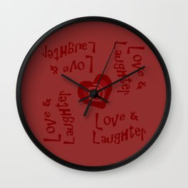Love & Laughter Wall Clock