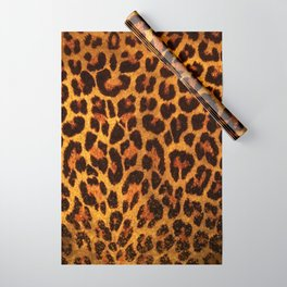 Glitter Leopard Print Wrapping Paper