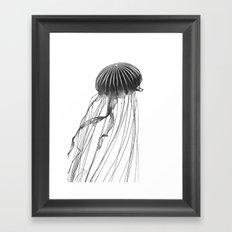 Minimal Jellyfish Framed Art Print