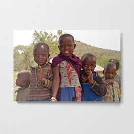 Maasai Children Metal Print