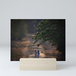 A Walk Between Ruins Mini Art Print