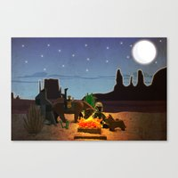 camping Canvas Prints featuring Camping by plopezjr