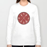compass Long Sleeve T-shirts featuring Compass by Duke Dastardly