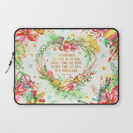 Christmas is love in action Laptop Sleeve