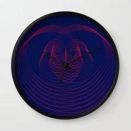 Navy blue Geometric modern abstract Wall Clock
