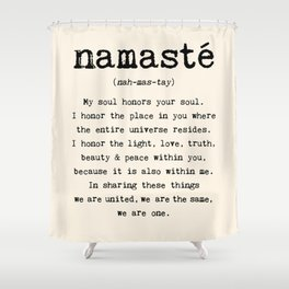 Namaste. Shower Curtain