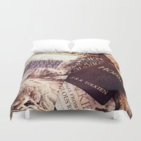 tolkien Duvet Covers featuring Tolkien Books by Apples and Spindles