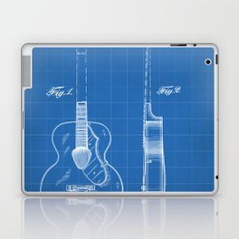 Accoustic Guitar Patent - Classical Guitar Art - Blueprint Laptop & iPad Skin
