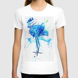 Turquoise heron watercolor T-shirt