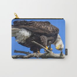 Alaskan Adult Bald_Eagle - Quizzical Carry-All Pouch