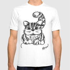 Unlikely Friends :: Cat & Mouse MEDIUM Mens Fitted Tee White