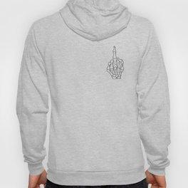 Fuck You | Skeleton Middle Finger Hoody