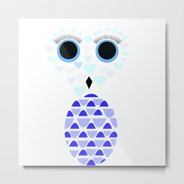 Owls Just Want to Have Fun No.3 Metal Print